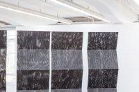 <p>Detail, <em>Untitled (Weedblock)</em>, 2014<br /> PVC (weedblock), steel ropes<br /> variable dimensions<br /> Kunsthaus Baselland, CH</p>